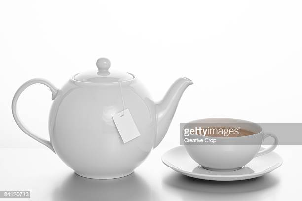 Pot of Tea with Cup and saucer