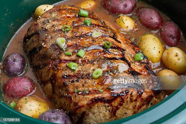 Asado de carne al horno con papas