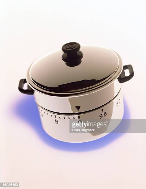 Pot with timer