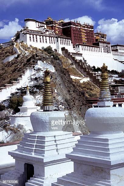 Palacio de Potala y stupas, Lhasa, el Tíbet