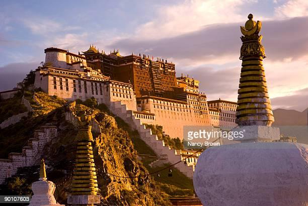 Potala Palace in Lhasa Tibet at sunset