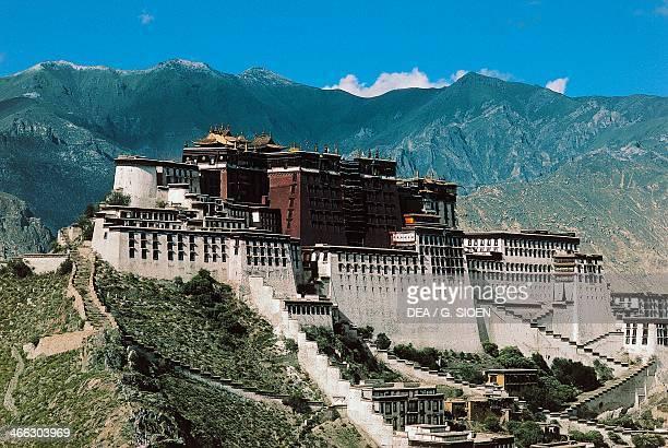 Potala Palace residence of the Dalai Lama Monte Rosso Lhasa Tibet China 17th century