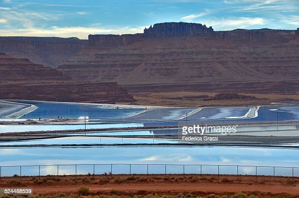 Potash evaporation ponds
