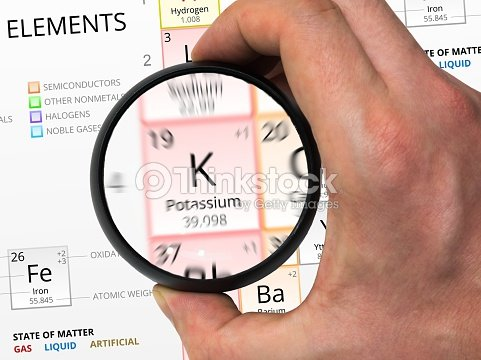 Potassium symbol element of the periodic table zoomed with stock element of the periodic table zoomed with stock photo urtaz Image collections