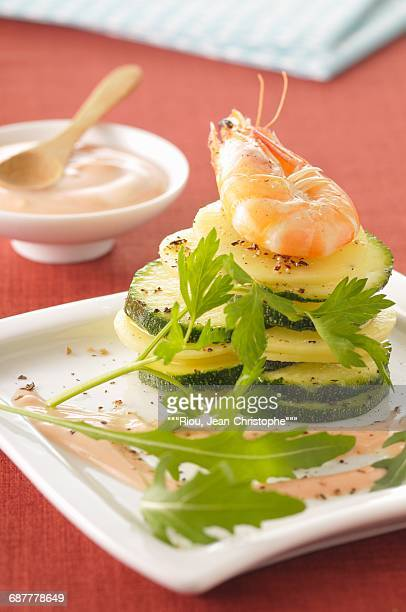 Potato and zucchini Tian