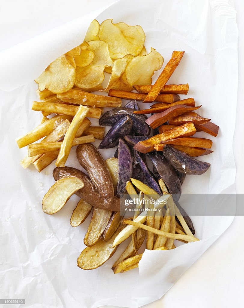Potato Chips And Fries Stock Photo Getty Images
