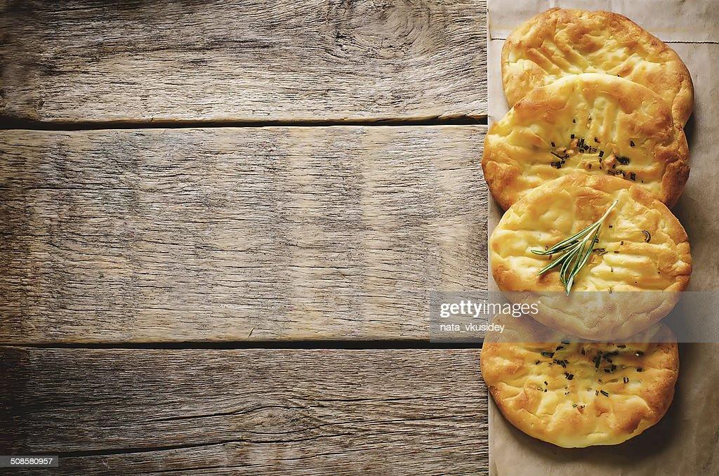potato flatbread with rosemary : Stockfoto