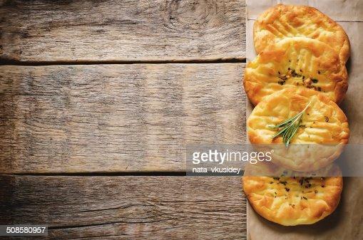 potato flatbread with rosemary : Stock Photo