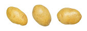 Set of potato isolated on a white background with clipping path