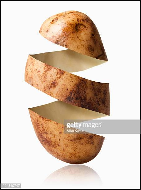 Potato peel in potato shape, studio shot