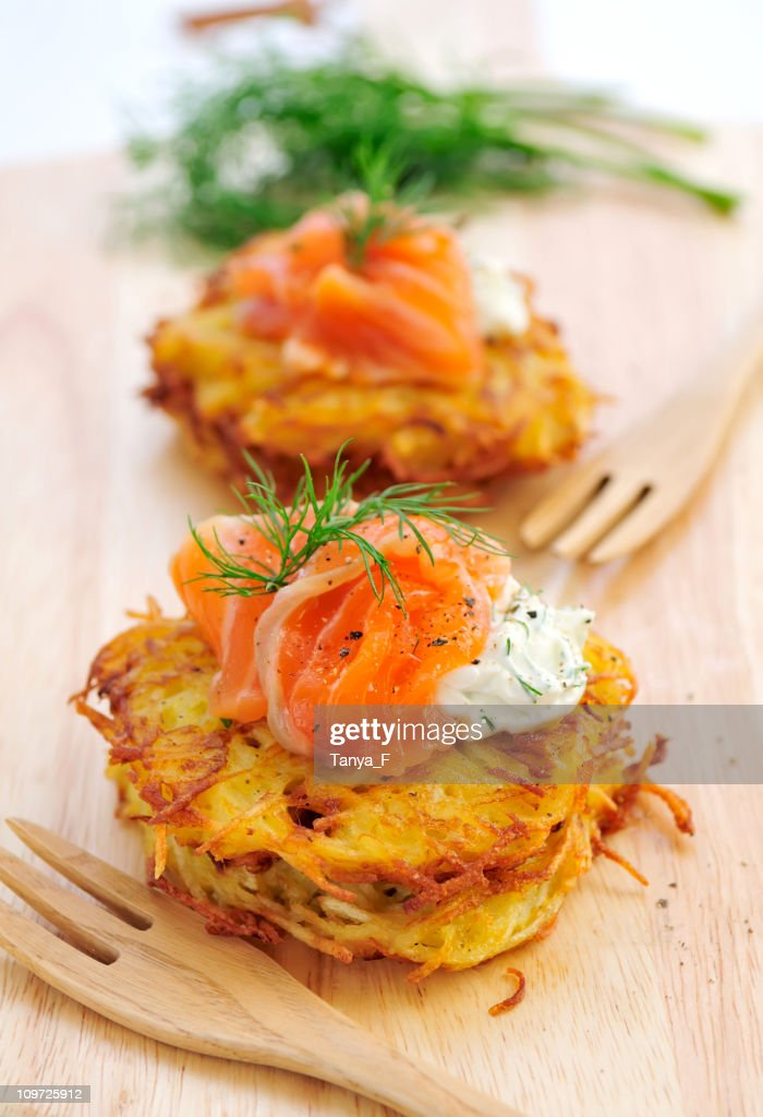 Potato Rosti Lunch : Stock Photo