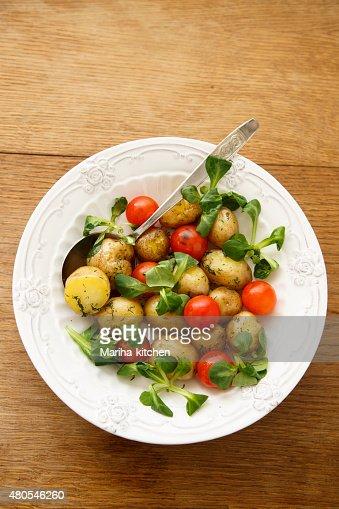 Salada de Batata : Foto de stock