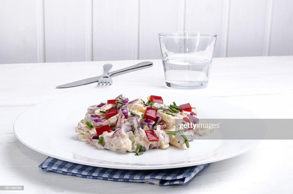 Ensalada de patata con pimiento : Foto de stock