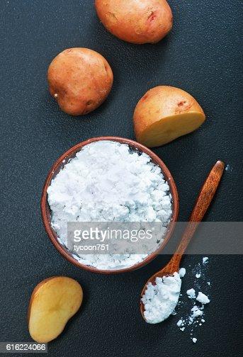 potato starch : Stock Photo