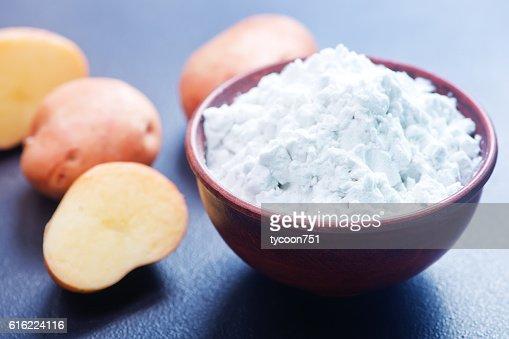 potato starch : Stockfoto