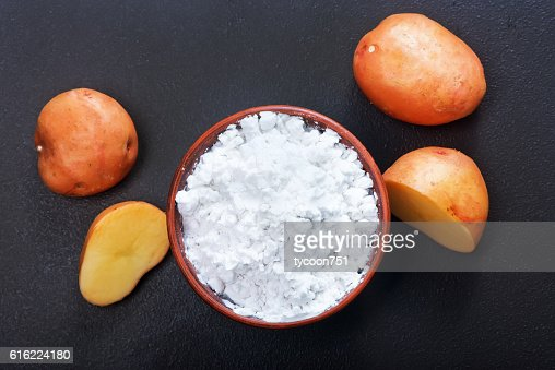 potato starch : Foto stock