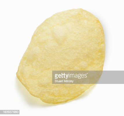 Potatoe chip on white background