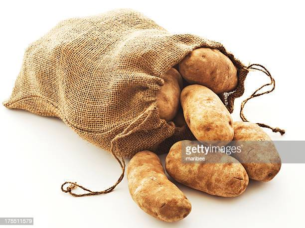 potatoes in burlap