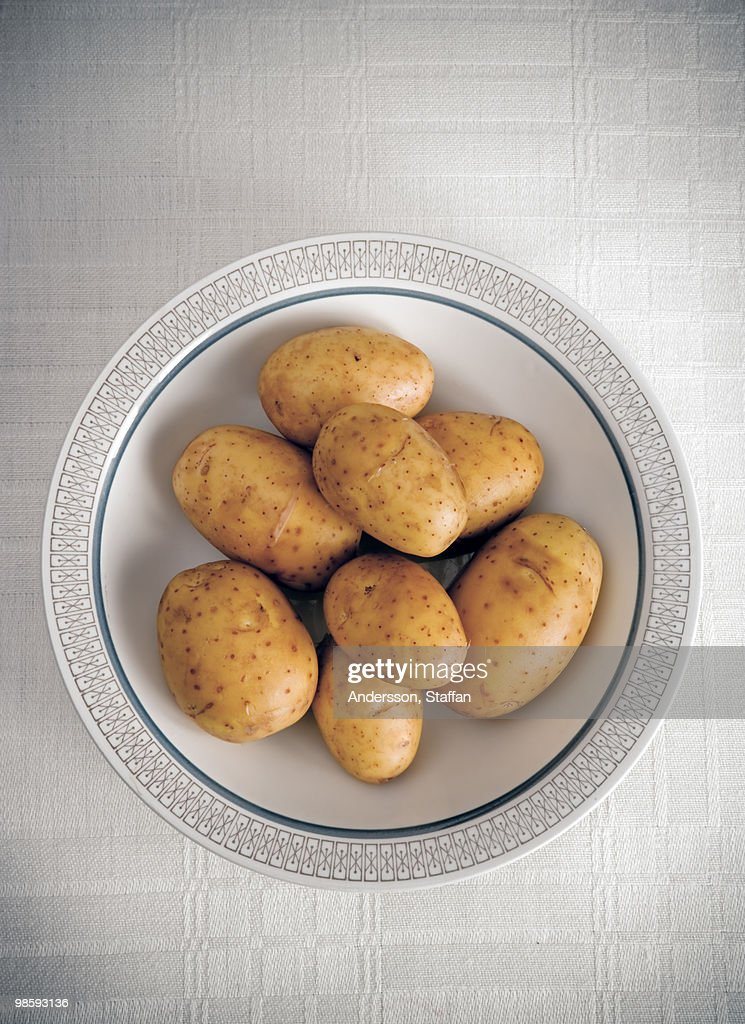 Potatoes on a plate, Sweden.