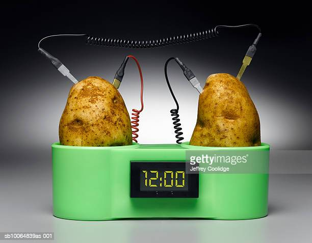 Potato-powered digital clock