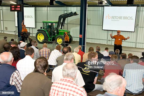 Potential buyers at the sixth international AGRAVIS auction held at Meppen in Emsland Germany 8000 visitors from farming communities around the world...