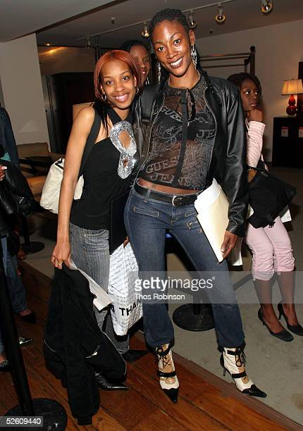 Potential models wait in line during the casting call for UPN's 'America's Next Top Model' at Macy's Herald Sqaure on April 9 2005 in New York City