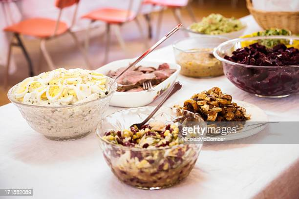 Potluck Buffet Table