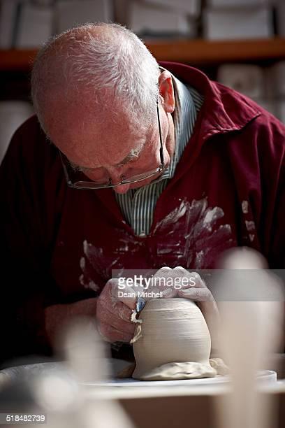 Potter のシェーピング、瓶に回転ホイールベース