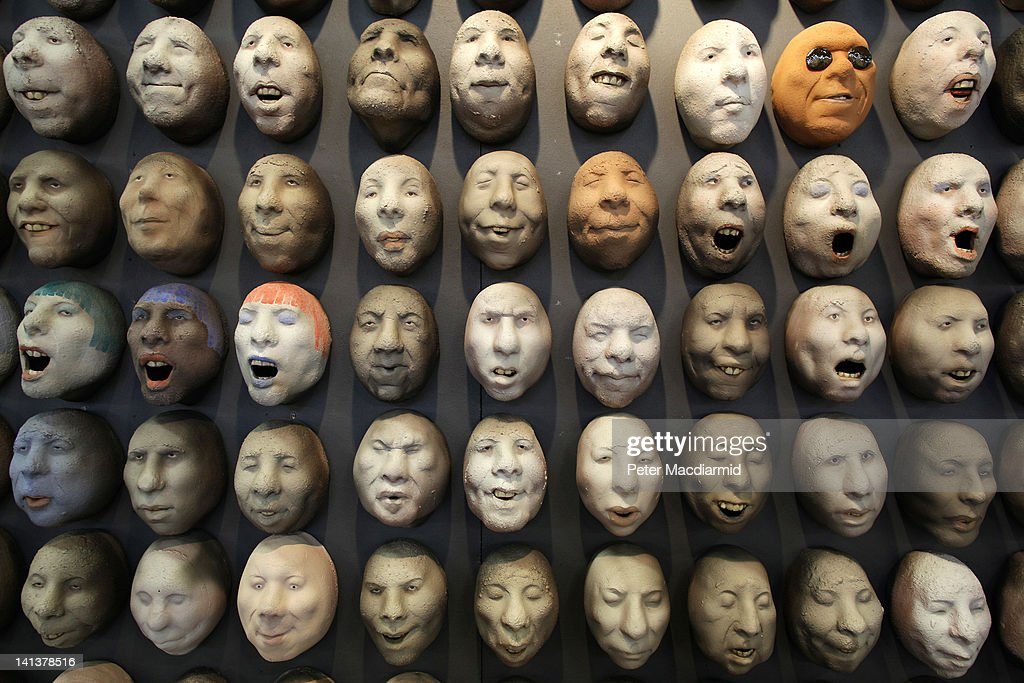 Pottery heads by artist Johan Thunell are displayed at The Affordable Art Fair on March 15, 2012 in London, England. 120 galleries are displaying works costing from £40 - £4000. Photography, paintings, prints and sculptures are on sale from 15-18th March 2012.