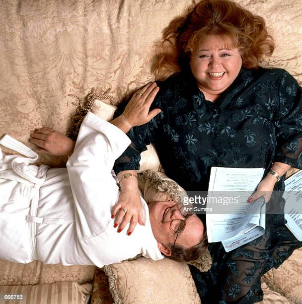 200 pound actress Patrika Darbo poses October 5 1999 at her home in Los Angeles Darbo is famous for strutting her size 20 frame across the daytime TV...