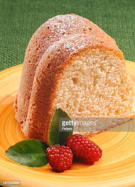 Pound Cake served with Raspberries