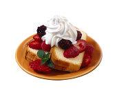 Pound cake with fruit