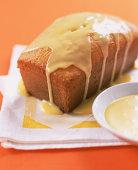 Pound cake with orange glaze