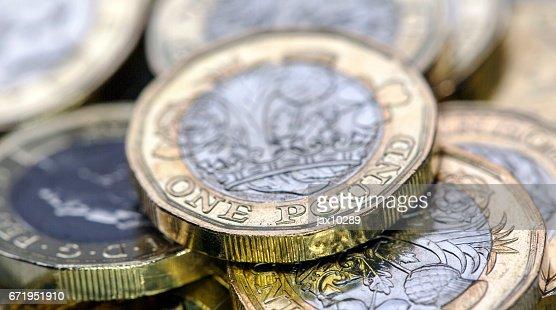Pound Coins - UK : Stock Photo