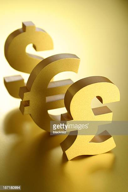 Pound Euro and Dollar Symbols