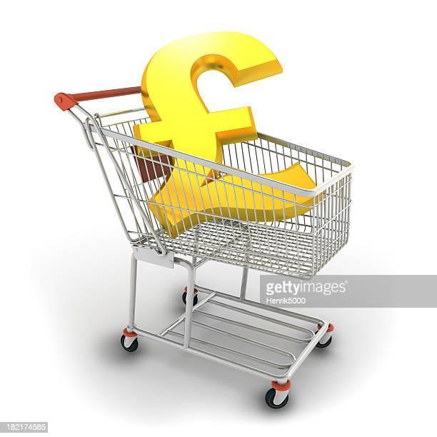 Pound im Einkaufswagen