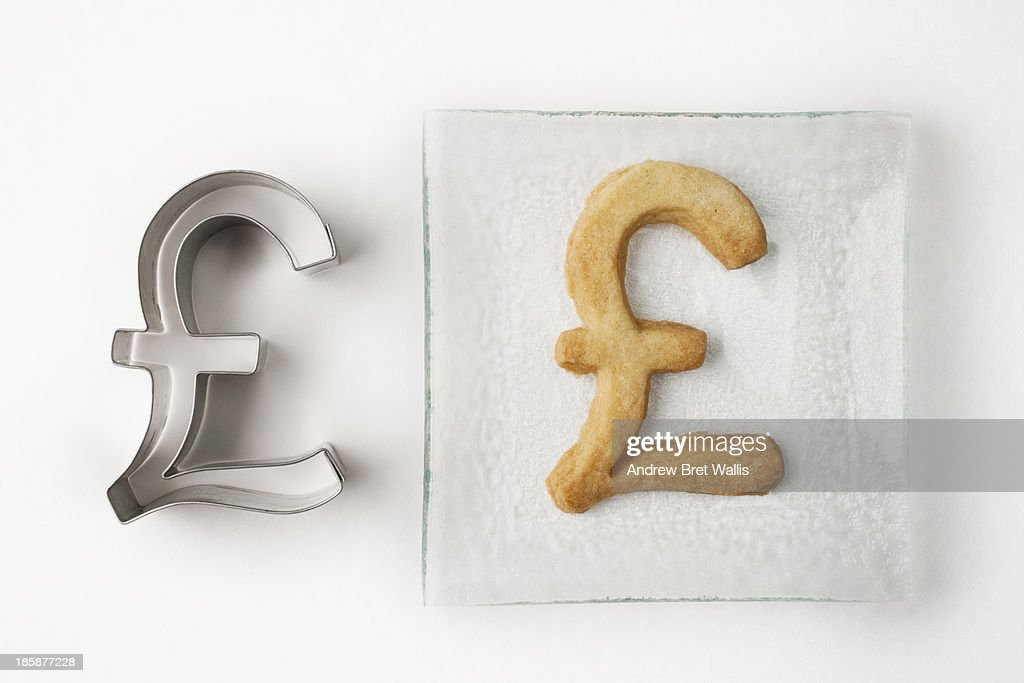Pound pastry cutter and pound biscuit on a plate