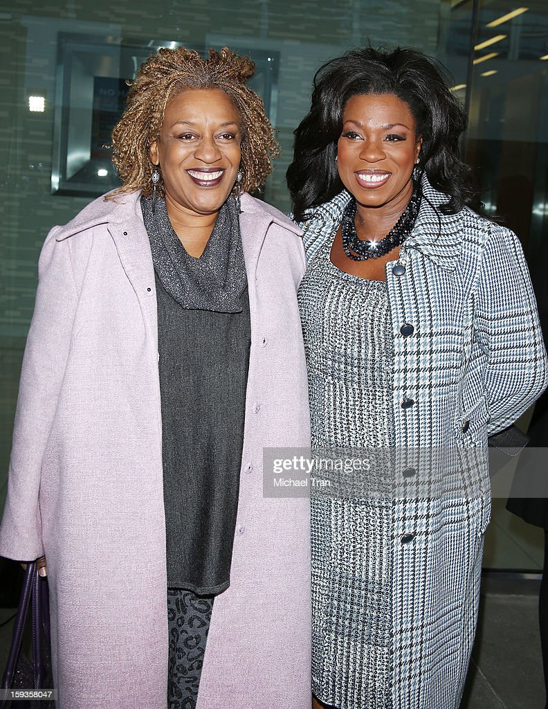 Pounder (L) and Lorraine Toussaint arrive at the 2013 Film Independent Filmmaker Grant And Spirit Award nominees brunch held at BOA Steakhouse on January 12, 2013 in West Hollywood, California.