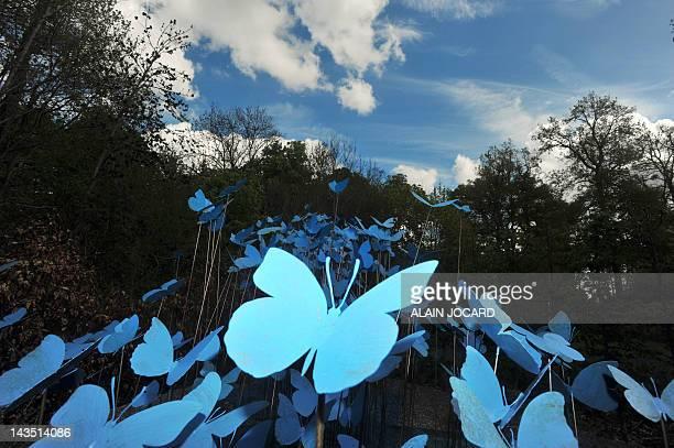 'Pour ses 20 ans le Festival des Jardins de ChaumontsurLoire voit grand' A picture taken on April 19 2012 in ChaumontsurLoire's castle park in...