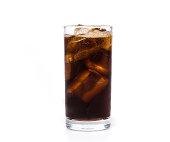 Pour water  cola glass