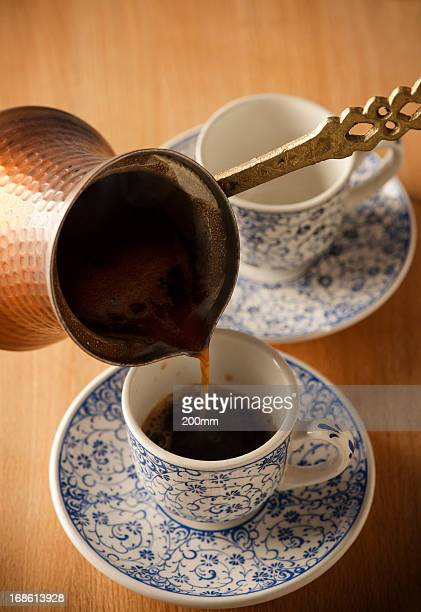 Pouring a Fresh Cup of Brewed Coffee
