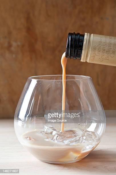 Pouring irish cream
