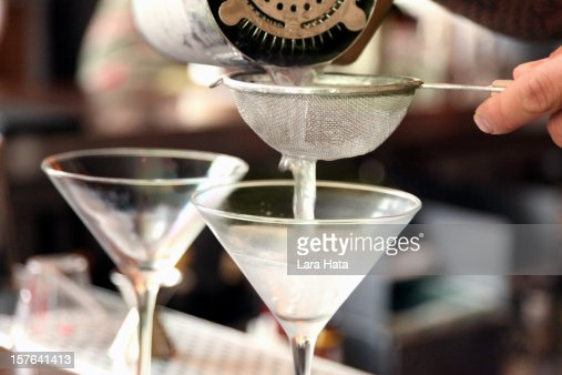 pouring martinis