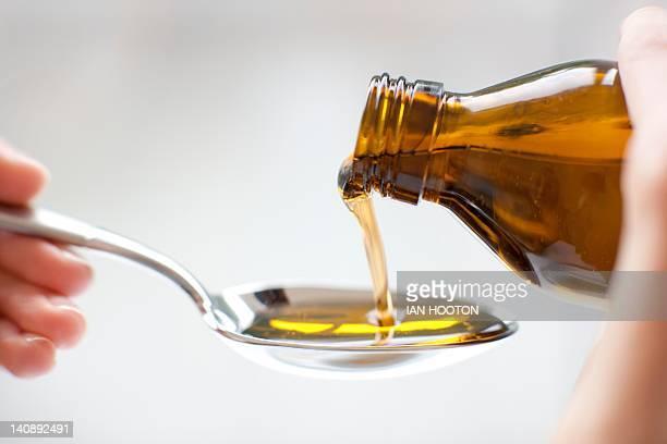 Pouring medicine