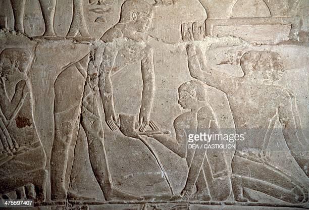 Pouring molten gold embossed interior of the mastaba of Mereruka Saqqara Egyptian civilisation Old Kingdom Dynasty VI