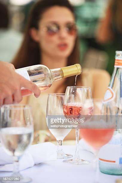 Verser Vin rosé