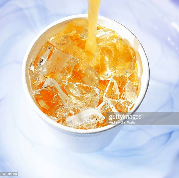 Pouring soft drink