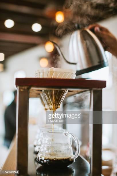 Preparación de un café de Pourover
