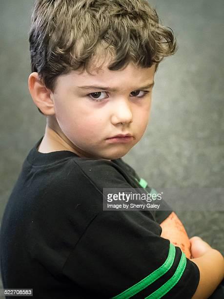 Pouting unhappy kid