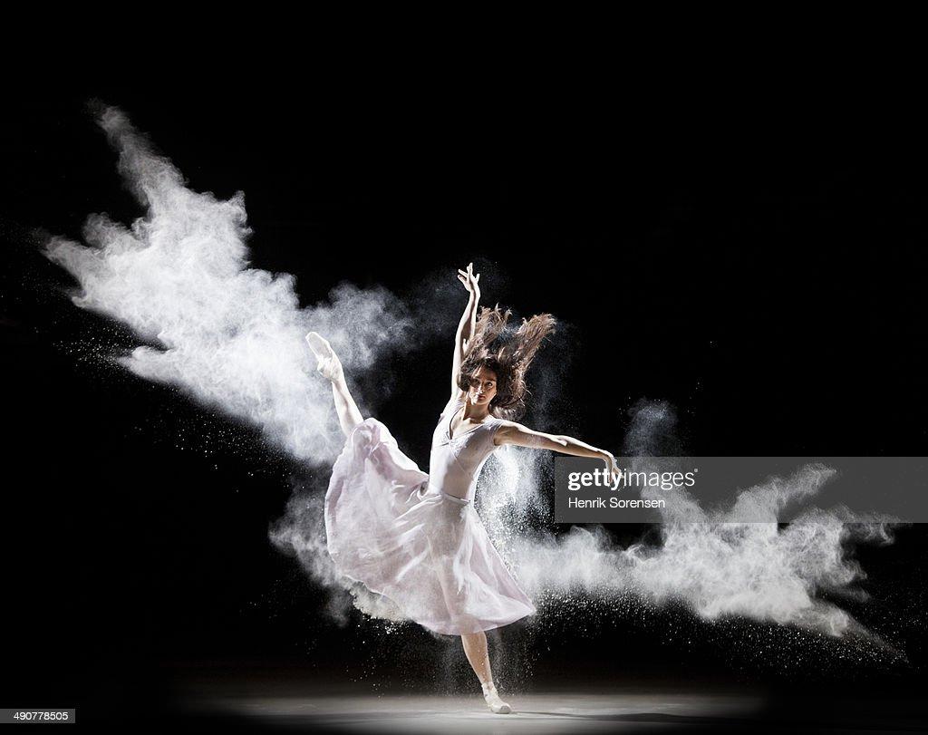 Powder Ballet : Stock Photo